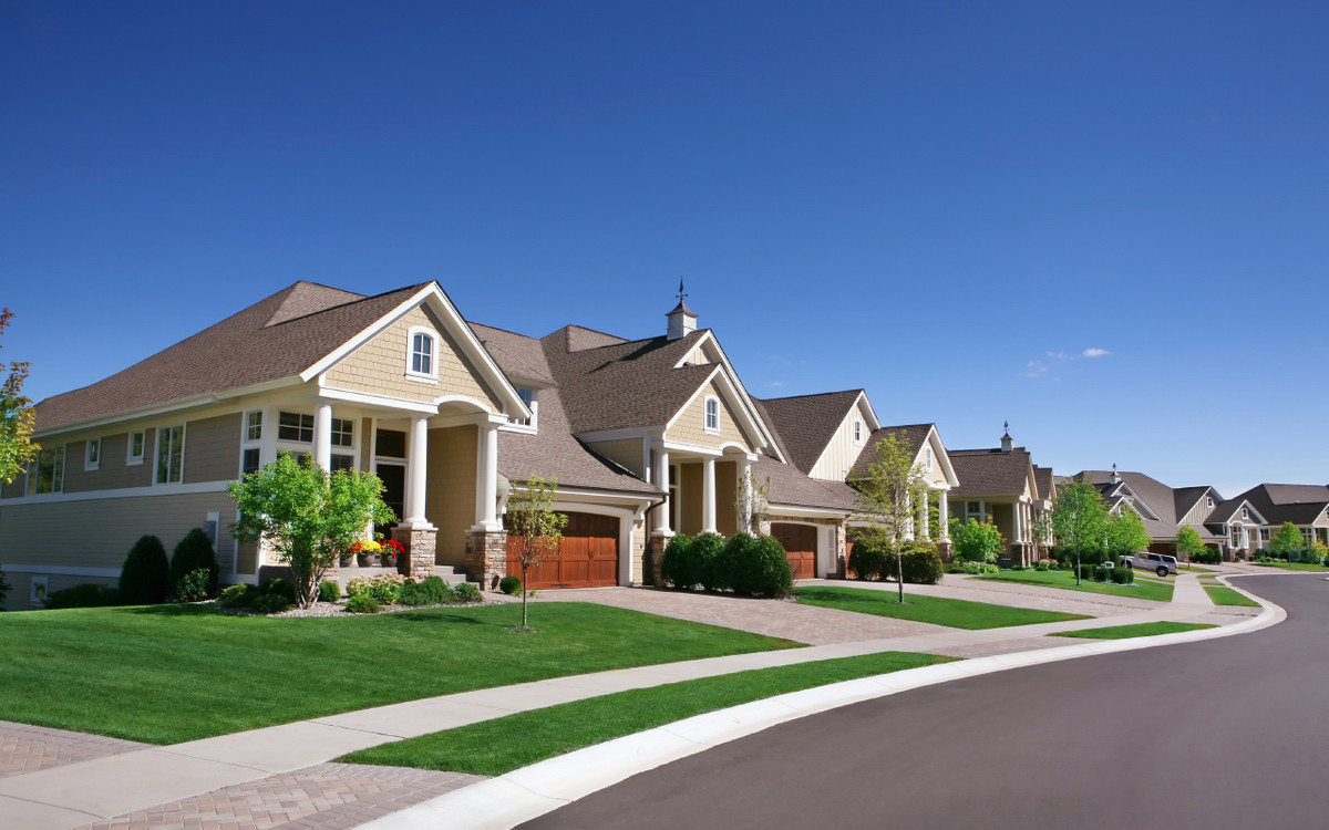 Image represents houses in a row